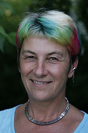 """Författarporträtt. From <a href=""""http://en.wikipedia.org/wiki/Image:Susan_blackmore.jpg"""">Wikipedia</a>. Photo of Susan Blackmore. Released by Blackmore after a personal request to her for a public domain photo."""