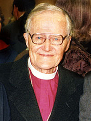 Författarporträtt. Bishop Lesslie Newbigin Photo created by Alastair Cutting