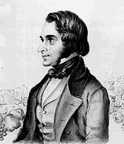 Författarporträtt. Contemporary portrait of Andrew Jackson Downing, 1815-1852 (Public domain ; Wikipedia)