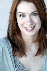 Foto do autor. Felicia Day, actress and web content producer.