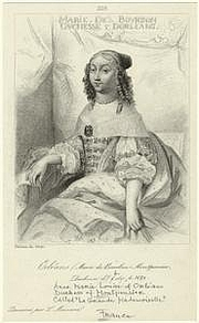 Författarporträtt. Anne-Marie-Louise d'Orléans, duchesse de Montpensier; Courtesy of the NYPL Digital Gallery (image use requires permission from the New York Public Library)
