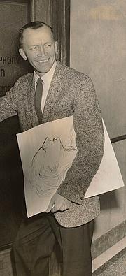 Foto do autor. Artist Mr. Ted Rand c. 1957