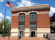 Foto do autor. The United States Holocaust Memorial Museum cafe, located south of the National Mall in Washington, D.C.