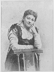Author photo. Ratsumies Peter Halket Mashonamaasta (published in 1909 in Finland), by Olive Schreiner (1855–1920), translated by Aino Malmberg (1865–1933).