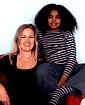 Författarporträtt. Louisa Young and Isabel Adomakoh Young