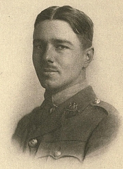Foto del autor. Image from <b><i>Poems</i></b> (1920) by Wilfred Owen