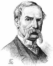 """Kirjailijan kuva. Self-portait, 1889 (source: M.H. Spielmann's """"The History of Punch"""" (Cassell, 1895)"""