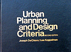 Urban Planning and Design Criteria by Joseph…