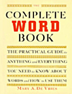 The Complete Word Book by Mary A. De Vries