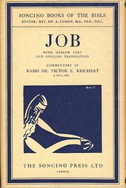 Job, with Hebrew text and English…