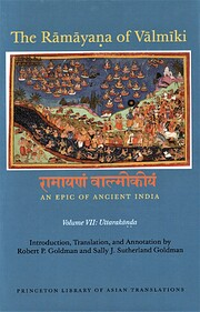 The Rāmāyaṇa of Vālmīki: An Epic of…