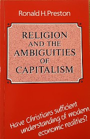 Religion and the Ambiguity of Capitalism af…
