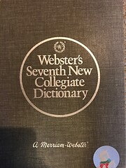 Websters Seventh New Collegiate Dictionary…