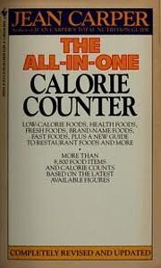All-in-One Calorie Counter de Jean Carper