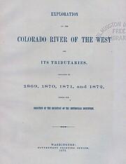 The exploration of the Colorado River de…