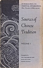 Sources of Chinese tradition, Vol. 1 by…