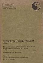 Svenskans beskrivning, 16. Vol. 2 by Per…