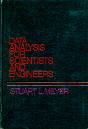 Data analysis for scientists and engineers…