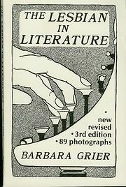 The lesbian in literature por Barbara Grier