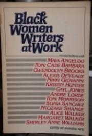 Black women writers at work av Claudia Tate