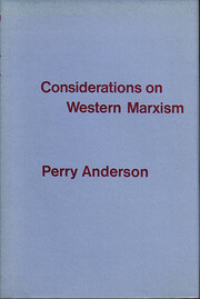 Considerations on Western Marxism de Perry…