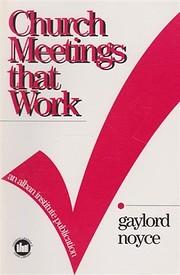 Church Meetings That Work – tekijä:…