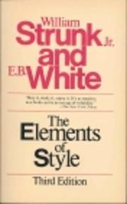 The Elements of Style – tekijä: Jr.…