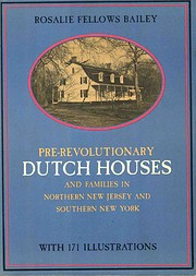 Pre-Revolutionary Dutch Houses and Families…
