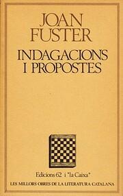 Indagacions i propostes : assaigs, diaris,…