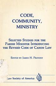 Code, community, ministry : selected studies…