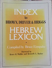 Index To Brown, Driver, & Briggs Hebrew…