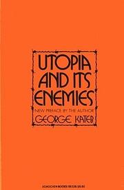 Utopia and Its Enemies (Studies in the…