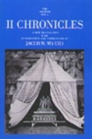 II Chronicles (The Anchor Bible, 13) (Bk. 2)…
