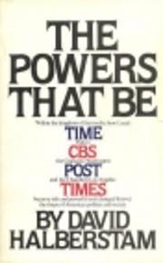The Powers That Be de David Halberstam