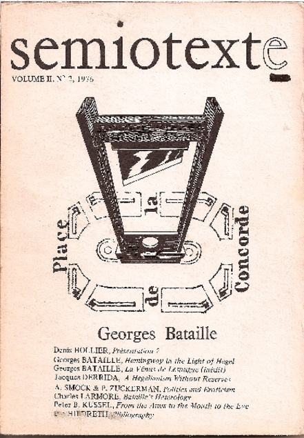 cover art for Georges Bataille, Semiotext(e)