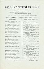 B.E.A. Kantfolio No. 1