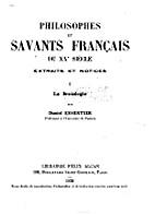 Philosophes et savants français du XXe…