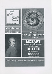 CCS Concert Programme - June 2012 af CCS
