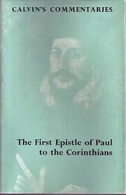 Commentary on Corinthians I (Calvin's…