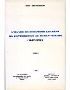 L'œuvre de Rosamond Lehmann tome 1 by M_J…