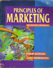 PRINCIPLES OF MARKETING de PHILIP KOTLER