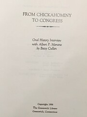 From Chickahominy to Congress : oral history…