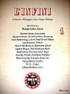 L'infini 1 : littérature, philosophie, art,…