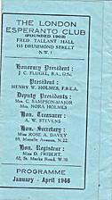The London Esperanto Club, Programme…