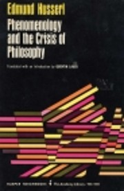 Phenomenology and the crisis of philosophy :…