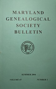 Maryland Genealogical Society…