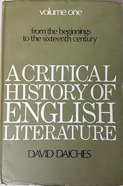 A Critical History of English Literature (v.…