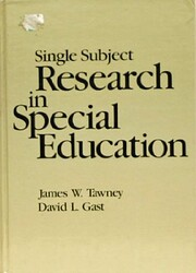 Single Subject Research in Special Education…