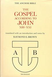 The Gospel According to John (The Anchor…