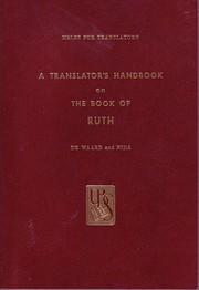 Translators Handbook on the Book of Ruth de…
